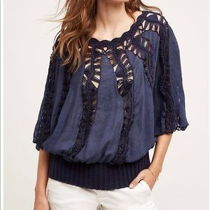 Tiny for Anthropologie Sweetfern peasant top